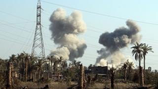 Последствия авиаудара США в Ираке