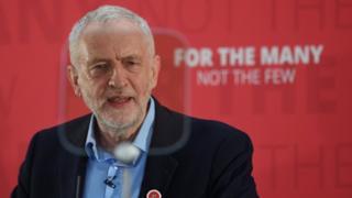 Jeremy Corbyn in London on 29 April