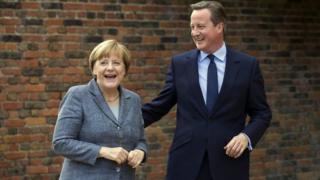 Angela Merkel and David Cameron