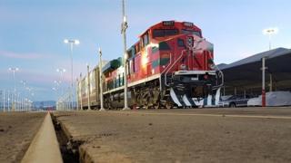 An Alstom freight train