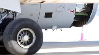 รูรั่วด้านท้ายเครื่องเครื่องบินแอร์บัส รุ่น A330 ของสายการบินไชนาอีสเทิร์น เที่ยวบิน เอ็มยู 736