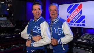 Nick Grimshaw and Tony Blackburn