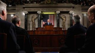 Donald Trump making his speech