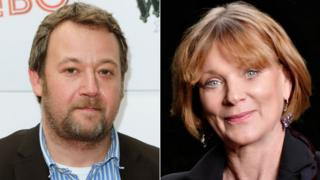 James Dreyfus and Samantha Bond