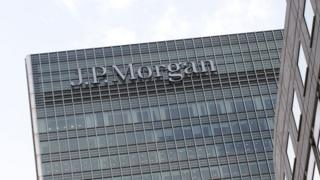 European headquarters of JP Morgan bank in London's Canary Wharf,