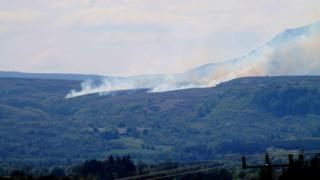 Fires on Cuilcagh mountain