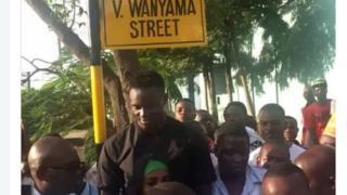Jina la mtaa uliokuwa katika Barabara iliyokuwa ikifahamika kwa jina la Viwandani ulipewa jina la Wanyama