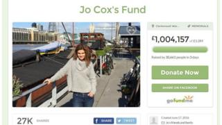 Jo Cox fundraising page
