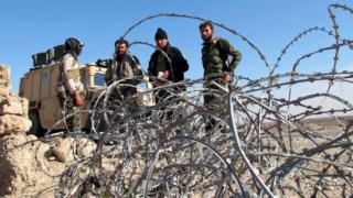 Afghan troops on patrol in Helmand, Afghanistan