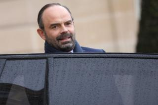 French Prime Minister Edouard Philippe leaves the Elysee Presidential Palace after attending a weekly cabinet meeting on 7 March 2018 in Paris
