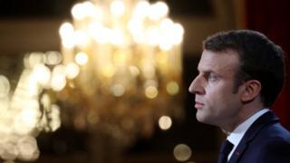 Mr Macron addresses media - 3 January