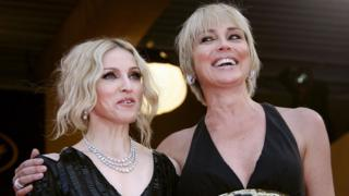 Madonna and Sharon Stone in 2008