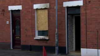 Scene of petrol bomb attack