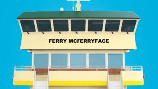 An illustration of Ferry McFerryface, a new Sydney ferry
