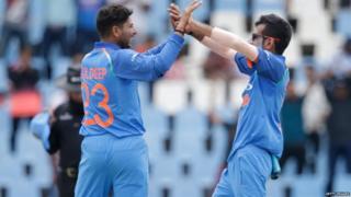भारतीय क्रिकेट टीम, दक्षिण अफ़्रीकी टीम, युजवेंद्र चहल, कुलदीप यादव