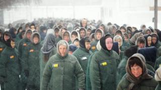 Съемки в колонии, где отбывала наказание Татьяна Андреева