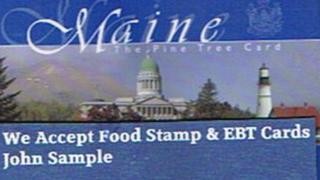 Image of sample Maine EBT card