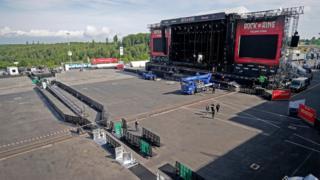 Rock am Ring Festivalinin boş ana sahnesi