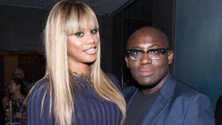 Edward Enninful and Laverne Cox