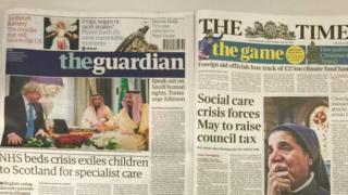 英国报纸头条(2016年12月12日)