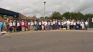 Wareham Crossing protest