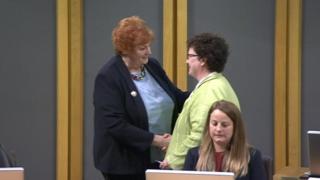 Dame Rosemary Butler and Elin Jones