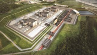 An artist's impression of Moorside nuclear plant