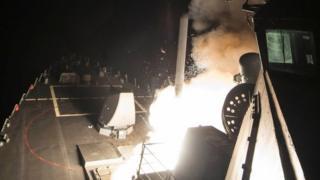 الصواريخ أطلقت من سفن أمريكية في البحر المتوسط