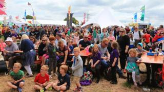 Crowds at this year's Urdd Eisteddfod, held at Flint High School