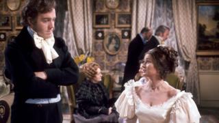 Michael Jayston as Edward Rochester Stephanie Beacham as Blanche Ingram. Mid 19th century England