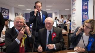 Lord Ashdown, David Cameron, Lord Kinnock and Amber Rudd