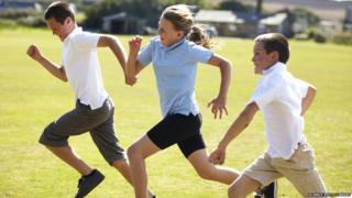 Older children racing