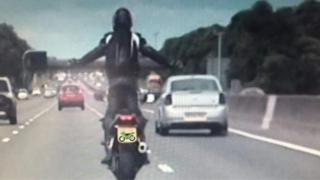 Biker on M6