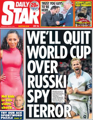 Daily Star front page - 07/03/18