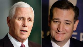 Mike Pence and Ted Cruz