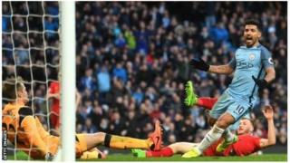 Sergio Aguero amefunga goli moja katika kila mechi dhidi ya Liverpool uwanja wa Etihad, na kufikisha magoli matano