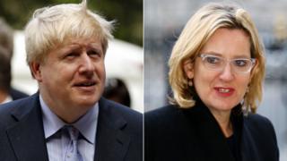 Boris Johnson and Amber Rudd