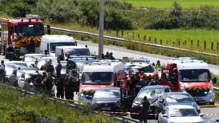 پلیس فرانسه در یک عملیات تعقیب و گریز راننده خودروی بی ام دبلیو را دستگیر کرده است