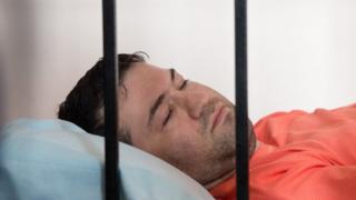 Роман Насіров у залі суду