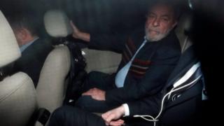 O ex-presidente Lula se dirige a sindicato em São Bernardo do Campo