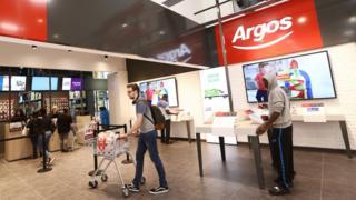 Argos store inside a Sainsbury's supermarket