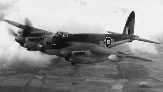 A Mosquito in flight circa 1943