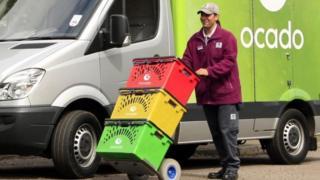 Ocado delivery van
