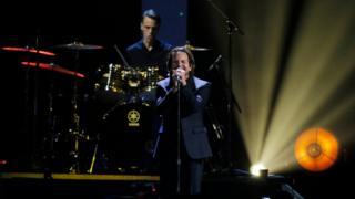 Eddie Vedder of Pearl Jam performs on stage