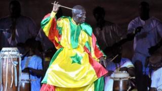Senegalese drum master Doudou Ndiaye Rose in 2010