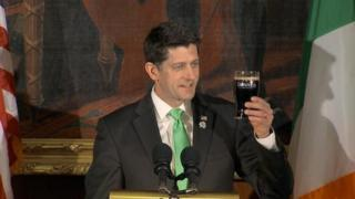 Paul Ryan and pint of Guinness