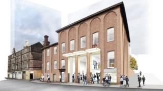 Artist impression of how the building will look after the revamp