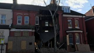 Collapsed house in West Hampstead