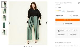 Curves trousers in large size