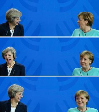 British Prime Minister Theresa May and German Chancellor Angela Merkel
